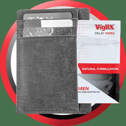 VigRx Delay Wipes wallet