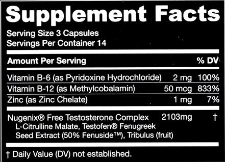 Nugenix Ingredients