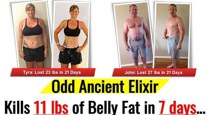 Flat Belly Fix before and after Pic