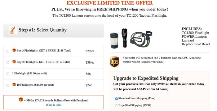 buy tc1200 pro flashlight