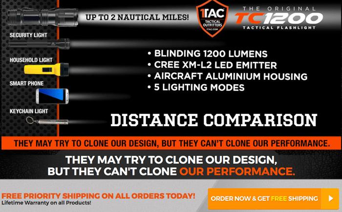 order TC1200 PRO Flashlight