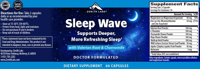 SleepWave label