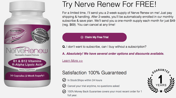 nerve renew trial