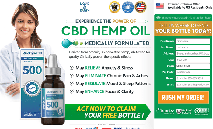 order Liquid Earth CBD Oil