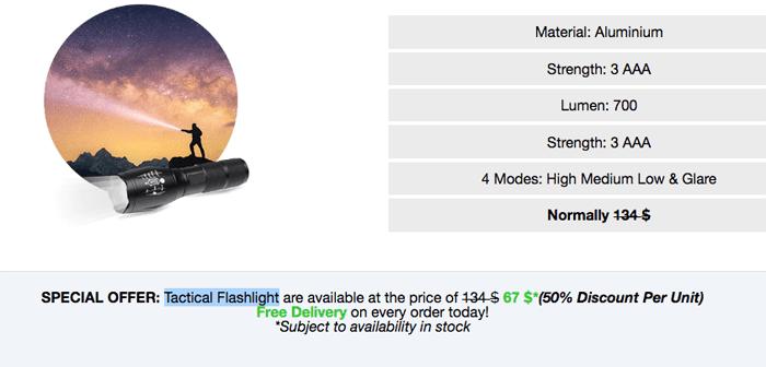 order TacticalX Flashlight