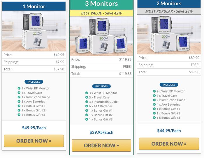 Order Zoom Wellness Wrist Blood Pressure Monitor
