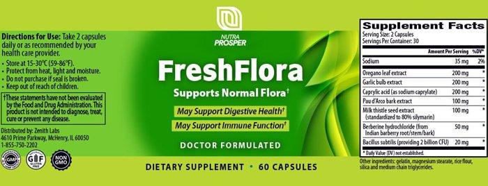 Fresh Flora Ingredients