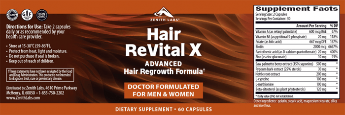 Hair Revital X Supplement