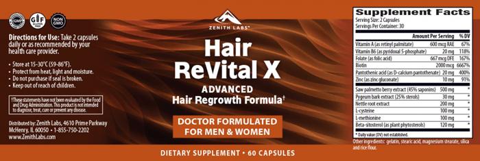 Hair Revital X Supplement
