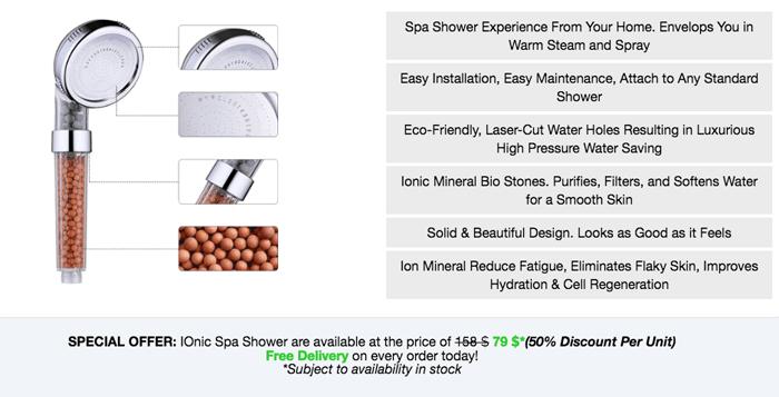 buy Ionic Spa Shower
