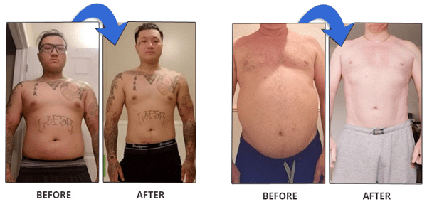 lean body hacks before after