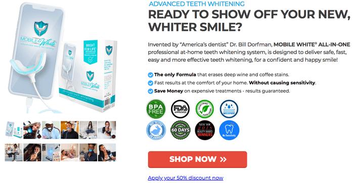 Order Mobile White - Advanced Teeth Whitening