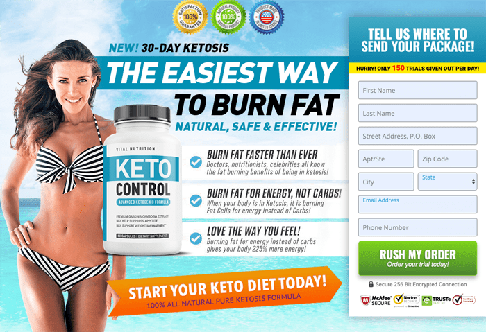 order Vital Nutrition Keto Control Diet