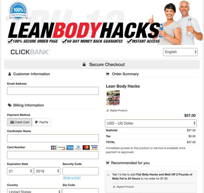 commander des hacks corporels maigres
