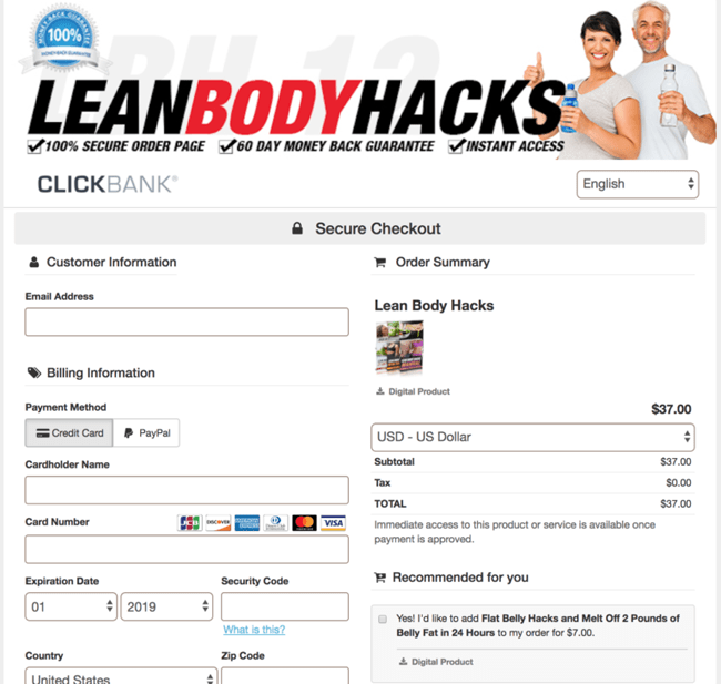 order lean body hacks