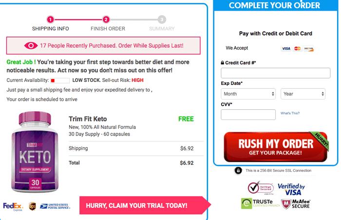 order trim fit keto diet trial