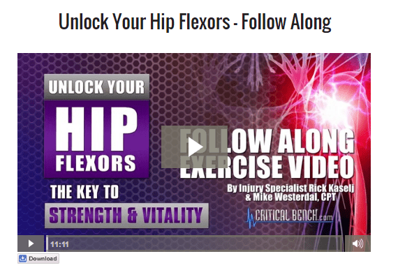 unlock hip flexors video