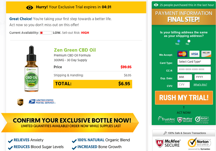 Zen Green CBD Oil trial
