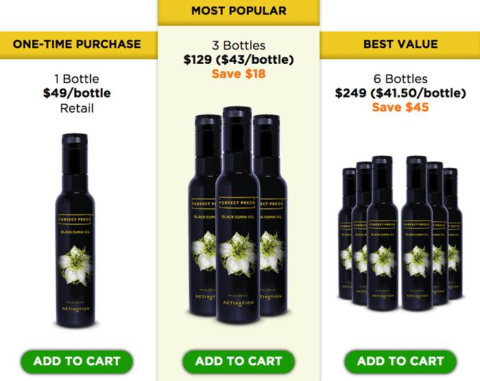 Order Perfect Press Black Cumin Oil