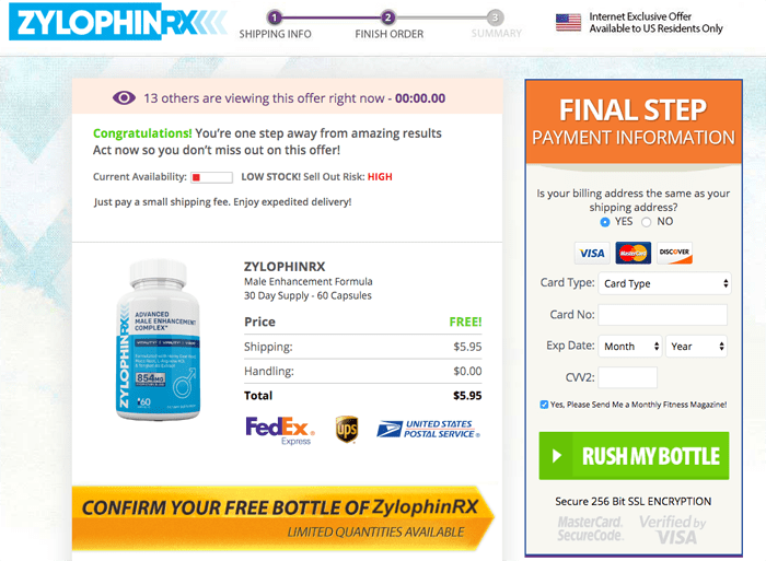 Zylophin RX trial price