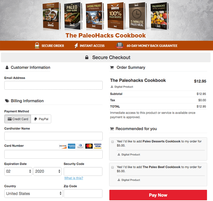 order paleohacks cookbooks