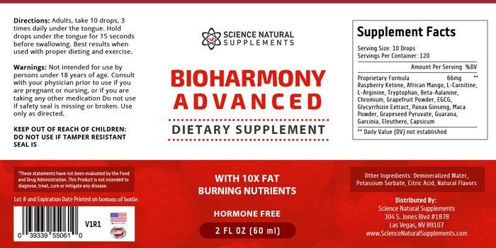 BioHarmony Advanced ingredients