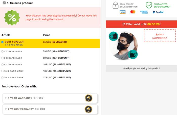 Safe Mask Price