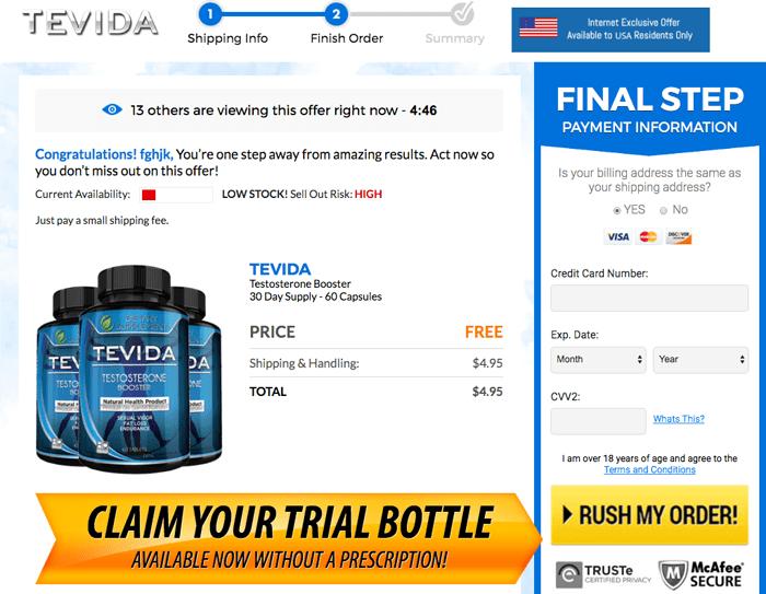 Order Tevida Testosterone Booster Trial