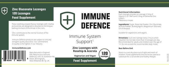 immune defence label