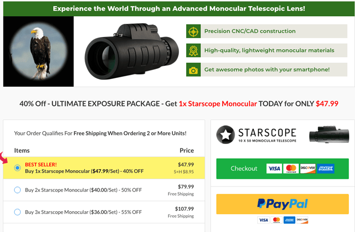 starscope monocular price