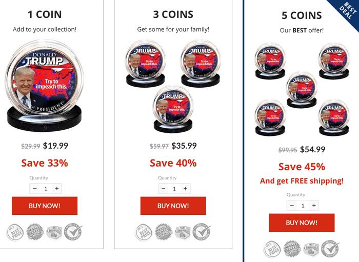 order trump coins