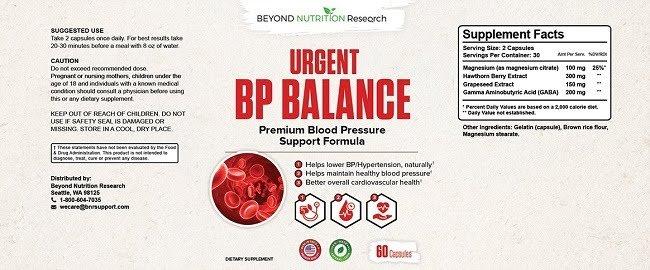 Urgent BP Balance Review