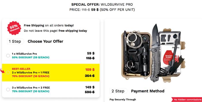 wildsurvive pro price