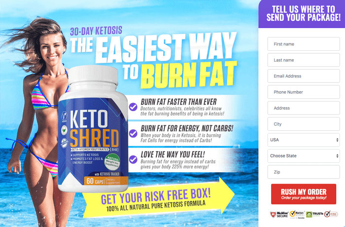 order Keto Shred