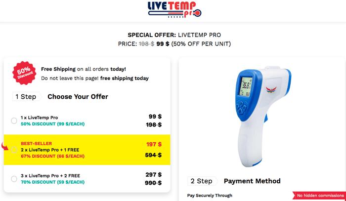 LiveTemp Pro price