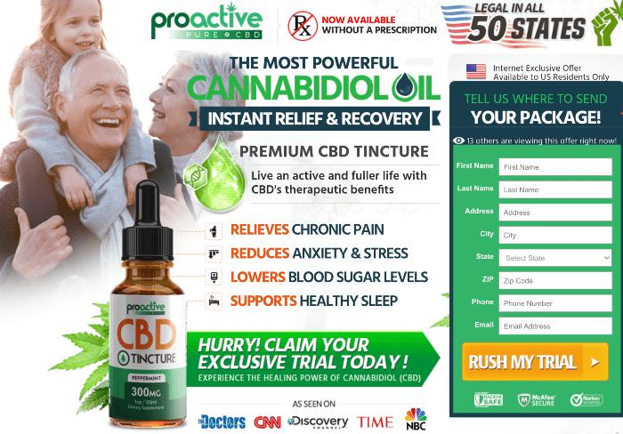 Proactive CBD Tincture Oil