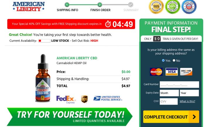 Order American Liberty CBD Oil Price