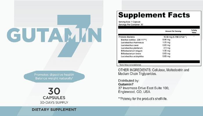 Gutamin 7 ingredients