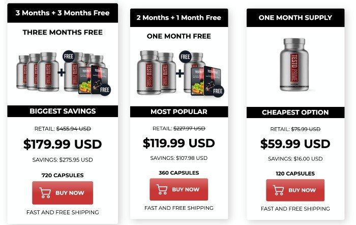 TestoPrime price